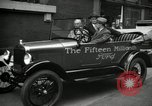 Image of Motorcade for Model T Fifteen Millionth car Highland Park Michigan USA, 1927, second 56 stock footage video 65675031961