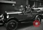 Image of Motorcade for Model T Fifteen Millionth car Highland Park Michigan USA, 1927, second 57 stock footage video 65675031961