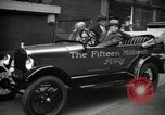 Image of Motorcade for Model T Fifteen Millionth car Highland Park Michigan USA, 1927, second 59 stock footage video 65675031961