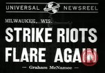 Image of Strike by labor of United Auto Workers Milwaukee Wisconsin USA, 1941, second 2 stock footage video 65675032020