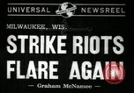 Image of Strike by labor of United Auto Workers Milwaukee Wisconsin USA, 1941, second 3 stock footage video 65675032020