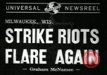 Image of Strike by labor of United Auto Workers Milwaukee Wisconsin USA, 1941, second 5 stock footage video 65675032020