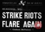 Image of Strike by labor of United Auto Workers Milwaukee Wisconsin USA, 1941, second 6 stock footage video 65675032020