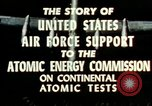 Image of atomic tests Nevada United States USA, 1958, second 27 stock footage video 65675032029