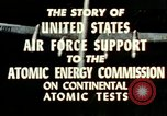 Image of atomic tests Nevada United States USA, 1958, second 34 stock footage video 65675032029