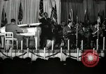 Image of Count Basie and Orchestra at Paul Robeson birthday party New York City USA, 1944, second 24 stock footage video 65675032041