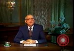 Image of Mikhail Sergeyevich Gorbachev Moscow Russia Soviet Union, 1988, second 39 stock footage video 65675032119