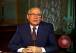 Image of Mikhail Sergeyevich Gorbachev Moscow Russia Soviet Union, 1988, second 50 stock footage video 65675032119