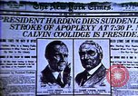 Image of Cal Coolidge becomes President. Roaring Twenties in U.S. Hyperinflatio United States USA, 1923, second 37 stock footage video 65675032137