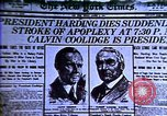 Image of Cal Coolidge becomes President. Roaring Twenties in U.S. Hyperinflatio United States USA, 1923, second 38 stock footage video 65675032137