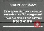 Image of dancers perform Berlin Germany, 1930, second 15 stock footage video 65675032149