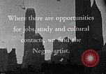Image of African American artists United States USA, 1937, second 16 stock footage video 65675032247