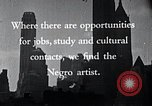Image of African American artists United States USA, 1937, second 17 stock footage video 65675032247