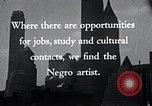 Image of African American artists United States USA, 1937, second 18 stock footage video 65675032247