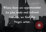 Image of African American artists United States USA, 1937, second 19 stock footage video 65675032247