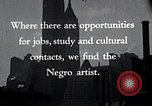 Image of African American artists United States USA, 1937, second 20 stock footage video 65675032247