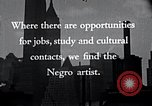Image of African American artists United States USA, 1937, second 21 stock footage video 65675032247