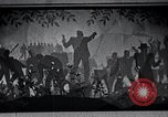 Image of Aaron Douglas paints Aspects of Negro Life United States USA, 1937, second 53 stock footage video 65675032260