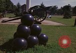 Image of cannons and cannon balls Washington DC USA, 1974, second 23 stock footage video 65675032279
