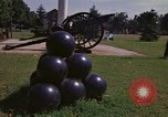 Image of cannons and cannon balls Washington DC USA, 1974, second 25 stock footage video 65675032279