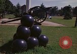 Image of cannons and cannon balls Washington DC USA, 1974, second 26 stock footage video 65675032279