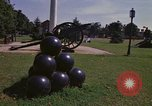 Image of cannons and cannon balls Washington DC USA, 1974, second 28 stock footage video 65675032279