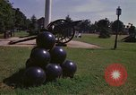 Image of cannons and cannon balls Washington DC USA, 1974, second 30 stock footage video 65675032279