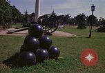 Image of cannons and cannon balls Washington DC USA, 1974, second 31 stock footage video 65675032279