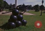 Image of cannons and cannon balls Washington DC USA, 1974, second 32 stock footage video 65675032279