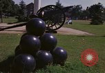 Image of cannons and cannon balls Washington DC USA, 1974, second 33 stock footage video 65675032279