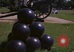 Image of cannons and cannon balls Washington DC USA, 1974, second 34 stock footage video 65675032279