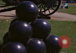 Image of cannons and cannon balls Washington DC USA, 1974, second 35 stock footage video 65675032279