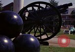 Image of cannons and cannon balls Washington DC USA, 1974, second 60 stock footage video 65675032279