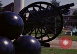 Image of cannons and cannon balls Washington DC USA, 1974, second 61 stock footage video 65675032279