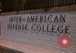 Image of  Inter-American Defense College Fort Lesley J McNair Washington DC USA, 1974, second 3 stock footage video 65675032283