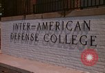 Image of  Inter-American Defense College Fort Lesley J McNair Washington DC USA, 1974, second 4 stock footage video 65675032283