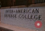 Image of  Inter-American Defense College Fort Lesley J McNair Washington DC USA, 1974, second 8 stock footage video 65675032283