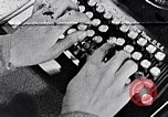 Image of hands performing various jobs late 1930s United States USA, 1937, second 1 stock footage video 65675032298