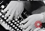 Image of hands performing various jobs late 1930s United States USA, 1937, second 6 stock footage video 65675032298