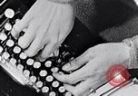 Image of hands performing various jobs late 1930s United States USA, 1937, second 14 stock footage video 65675032298