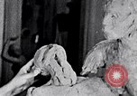 Image of Richmond Barthe designing sculpture New York City USA, 1937, second 2 stock footage video 65675032304