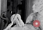 Image of Richmond Barthe designing sculpture New York City USA, 1937, second 3 stock footage video 65675032304