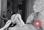 Image of Richmond Barthe designing sculpture New York City USA, 1937, second 5 stock footage video 65675032304