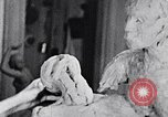 Image of Richmond Barthe designing sculpture New York City USA, 1937, second 7 stock footage video 65675032304