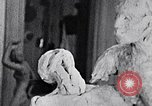 Image of Richmond Barthe designing sculpture New York City USA, 1937, second 8 stock footage video 65675032304