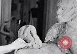Image of Richmond Barthe designing sculpture New York City USA, 1937, second 10 stock footage video 65675032304
