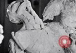 Image of Richmond Barthe designing sculpture New York City USA, 1937, second 29 stock footage video 65675032304