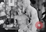 Image of Richmond Barthe designing sculpture New York City USA, 1937, second 35 stock footage video 65675032304