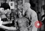 Image of Richmond Barthe designing sculpture New York City USA, 1937, second 42 stock footage video 65675032304