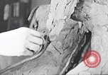 Image of Richmond Barthe designing sculpture New York City USA, 1937, second 43 stock footage video 65675032304